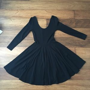 Ballet Fitted Black Evening Dress